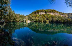 Голубое Нижнее озеро в Кабардино-Балкарии кавказ места