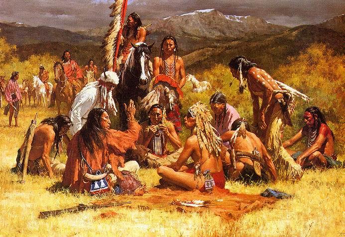 ритуал трубки мира индейцев