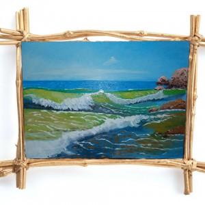 Морская волна картина маслом