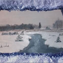 Лес зимой картина