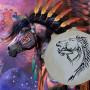 Шаманский бубен Конь Ветер