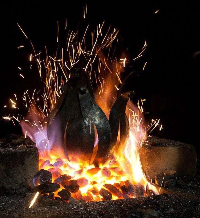 огненный ритуал с подковой