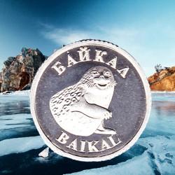 Байкал нерпа Ольхон монета серебро