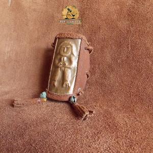 Шаманский браслет наруч пермский стиль золотая баба