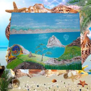 Ольхон Байкал картина маслом на холсте