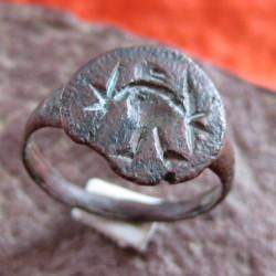 старинное кольцо шаман воин