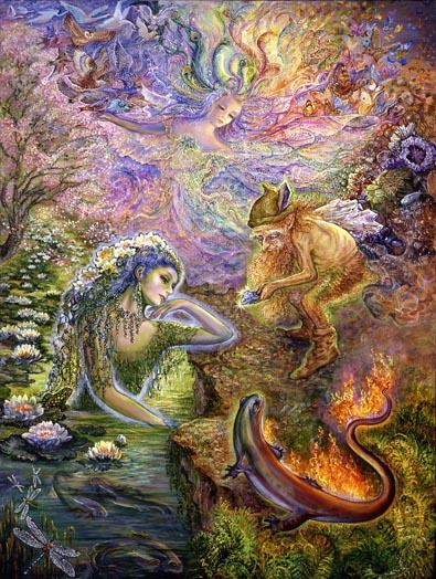 духи четырех стихий (гномы, эльфы, ундины, саламандры)