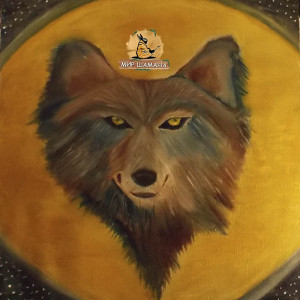 лунный дух волк картина шаманская