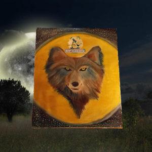 Луна и Волк картина эзотерическая