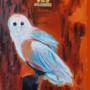 Тотем сова картина картина маслом на холсте