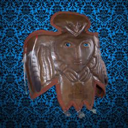 ритуальная маска шамана пермский звериный стиль душа