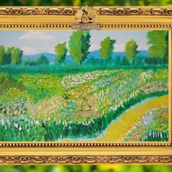 картина цветущий луг
