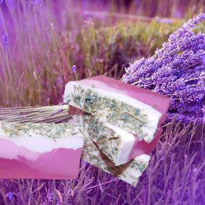Мыло с лавандой натуральное слоеное