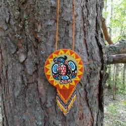 индейский талисман из бисера