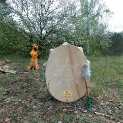 шаманский бубен сияющий огонь