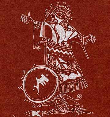 Шорский бубен. Легенда о 9 бубнах шамана