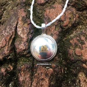 шаманское зеркало из серебра