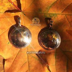 шаманское зеркало из золота