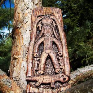 богиня со змеями пермский звериный стиль