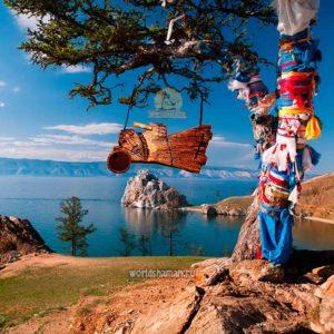 Летящий шаман с бубном
