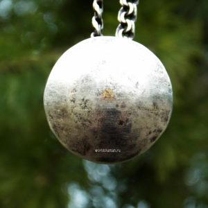 шаманское зеркало из серебра кованное купить