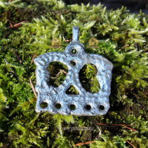 привеска коньки серебро финно угры