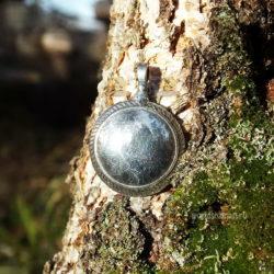 шаманское зеркало литое серебро 925