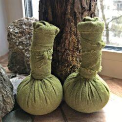 Травяные мешочки для массажа