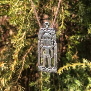 Культовая богиня огня оберег из серебра